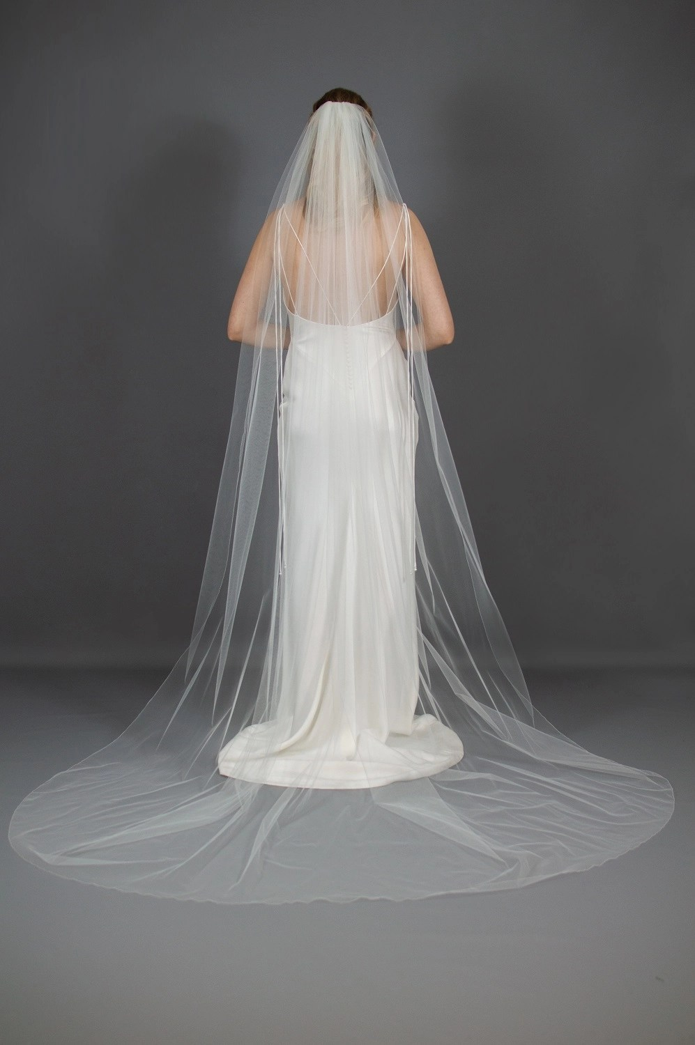 Wedding veil widths long one layer 108 inches wide