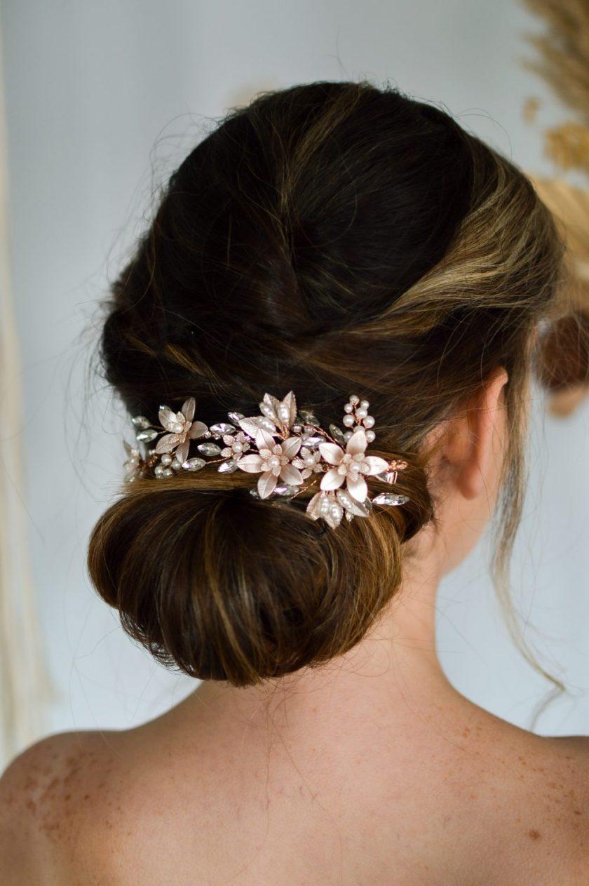 Blush pink hair comb Linzi Jay (3)