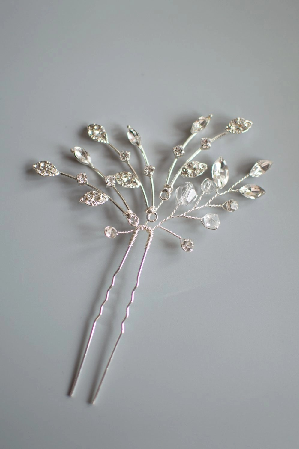 HP4334 silver hair pin