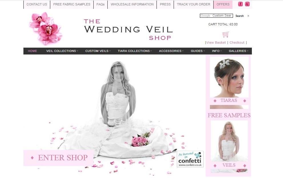the wedding veil shop old website