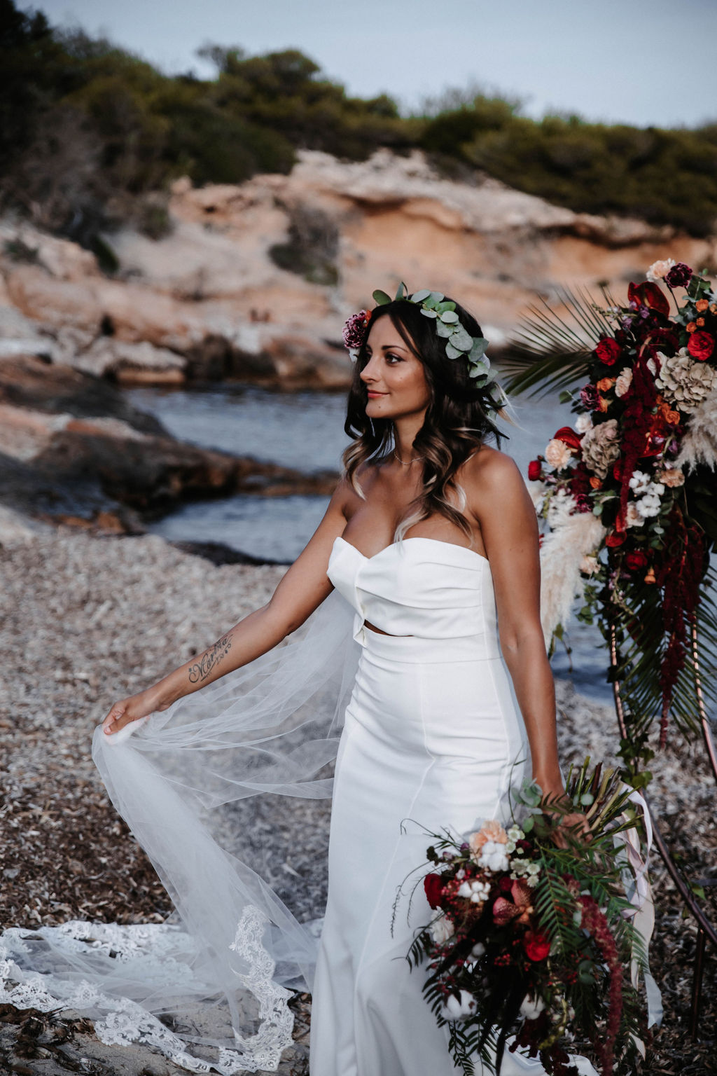 Two brides - wedding on a beach