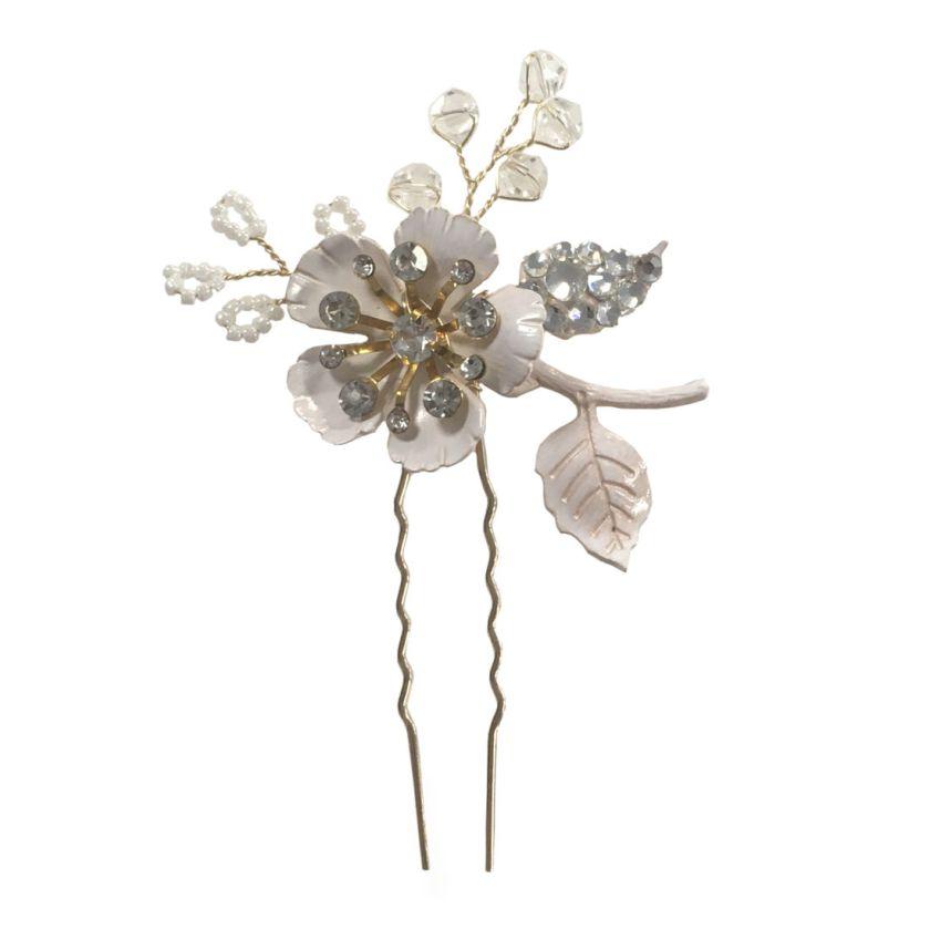 LP756 Blush flower hairpin