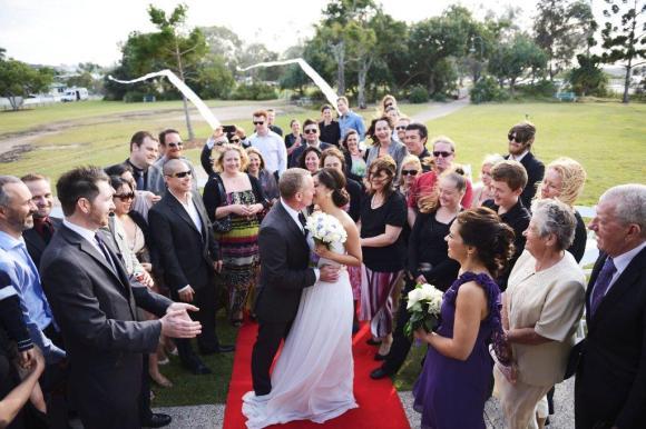 Guests Brisbane Bayside wedding