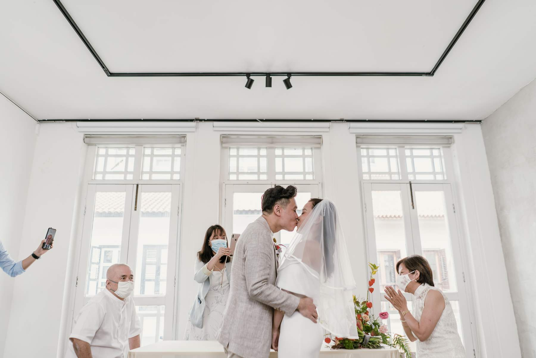 Pandemic wedding in Singapore