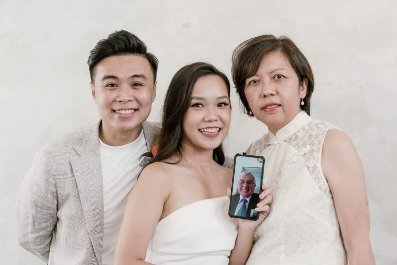 Pandemic wedding in Singapore