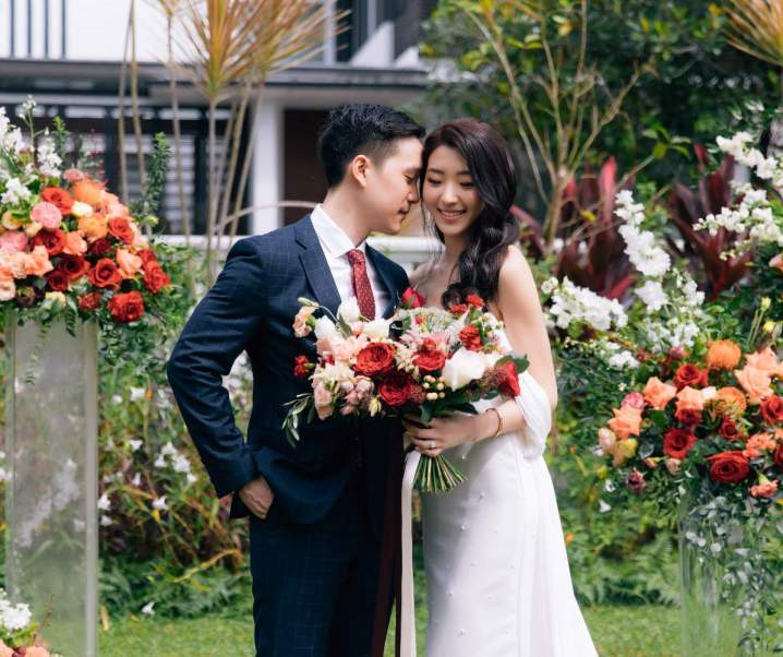 Lionel and Leonie's Vibrant Garden Wedding at Home
