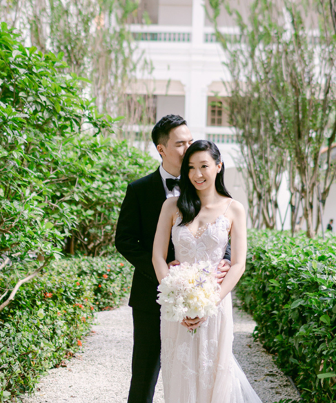 Vincent & Clare's Elegant and Classic Wedding at Yi by Jereme Leung, Raffles Hotel