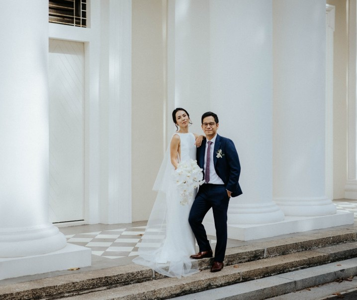 Lloyd and Lauren's Minimalist Wedding at The Capitol Kempinski