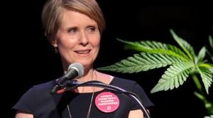 At Fund-Raiser, Cynthia Nixon Says She Favors Legalizing Marijuana