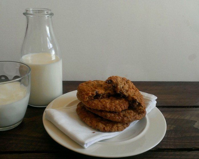 Milk & gooey cookies.