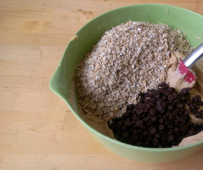 Persevere when mixing to ensure its all incorporated. The mixture will be very thick