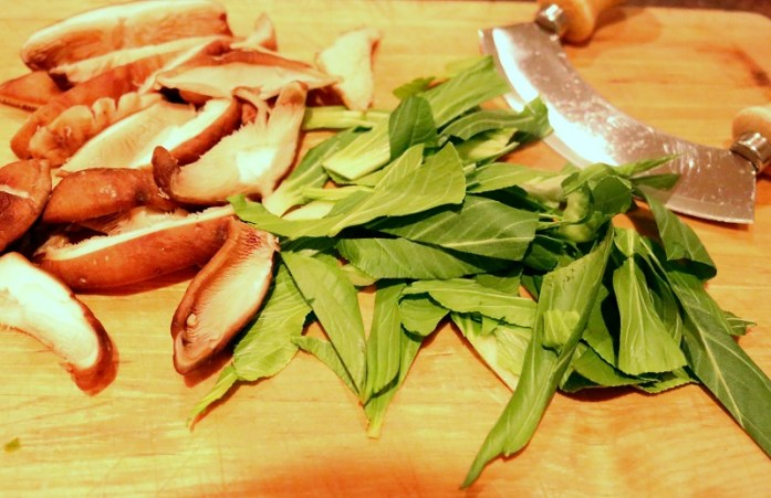 Mushrooms & pak choi only take minutes to cook