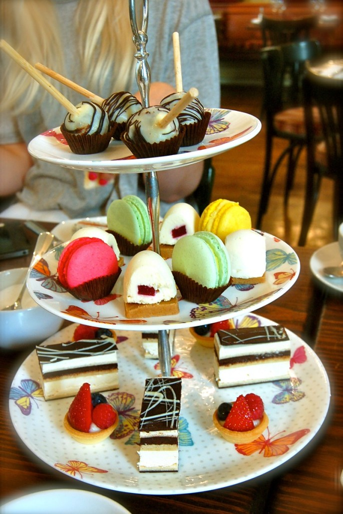 Pretty colours of an afternoon tea. Image: theonlycountrygirl.wordpress.com