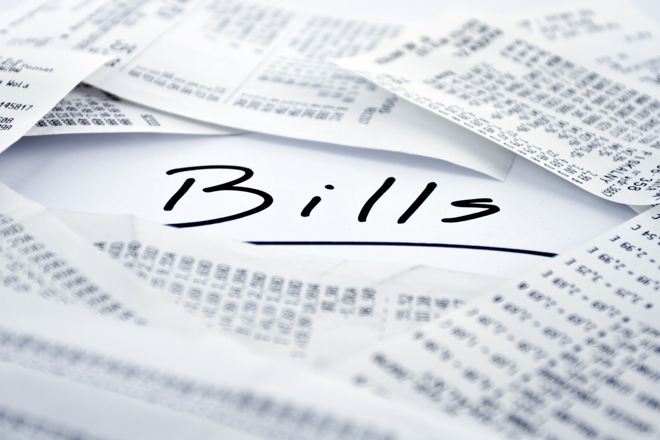 Bills to be paid in monthly periods
