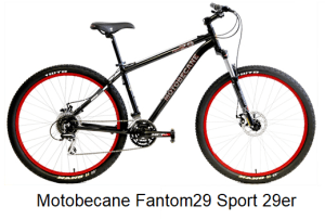 Motobecane Fantom29 Sport 29er Rigid Mountain Bike