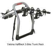 Yakima HalfBack 3-Bike Trunk Rack