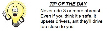 The Weeknd Bicyclist Tip of the Day