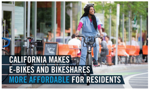 California Makes E-Bikes more affordable