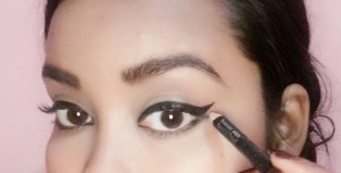 Use white pencil to highlight & to upen up your eyes