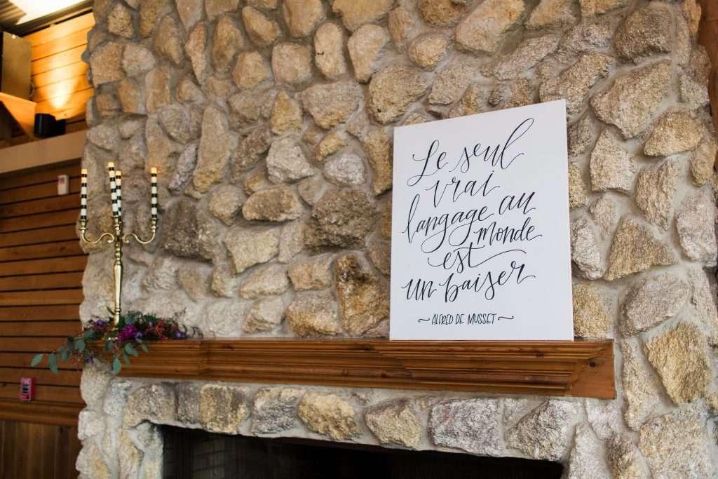 french words, french wedding, wedding details