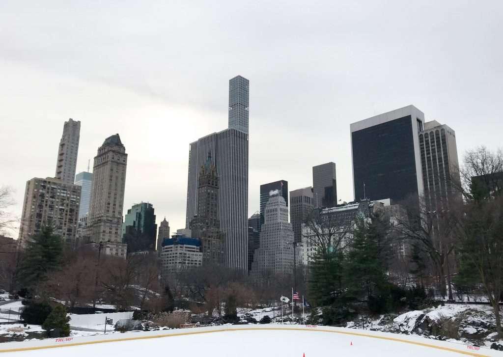 NYC, Wollman Park, ice skating, holidays