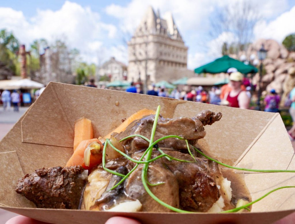 Epcot Flower and Garden Festival 2018, Northern Bloom, World Showcase Canada, Beef Tenderloin, Food Favorites, Eat Around the World, Walt Disney World, Epcot Festival, What to Eat at Epcot, #disneytips #festivalfood #waltdisneyworld #disneyblogger
