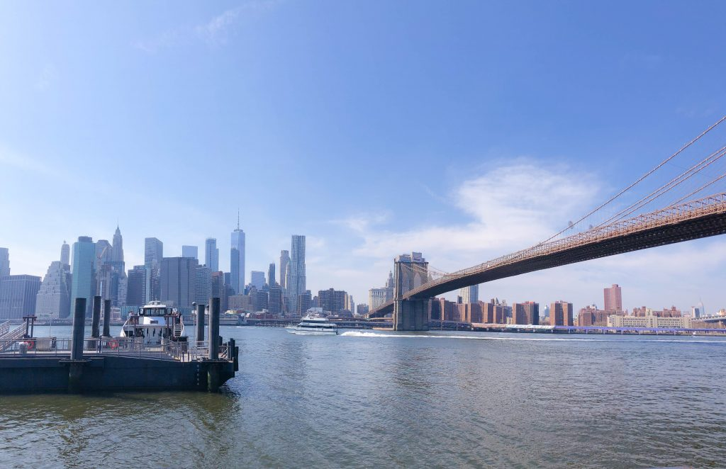 Brooklyn Bridge Park, Manhattan, Manhattan skyline, girls getaway, girls weekend, girls weekend ideas, girls trip, girls trip ideas, girls in the city, New York City, NYC, weekend in NYC, girls trip to NYC, where to brunch in NYC, New York City brunch, weekend highlights, #NYCtips #NYCrestaurants #travelblog