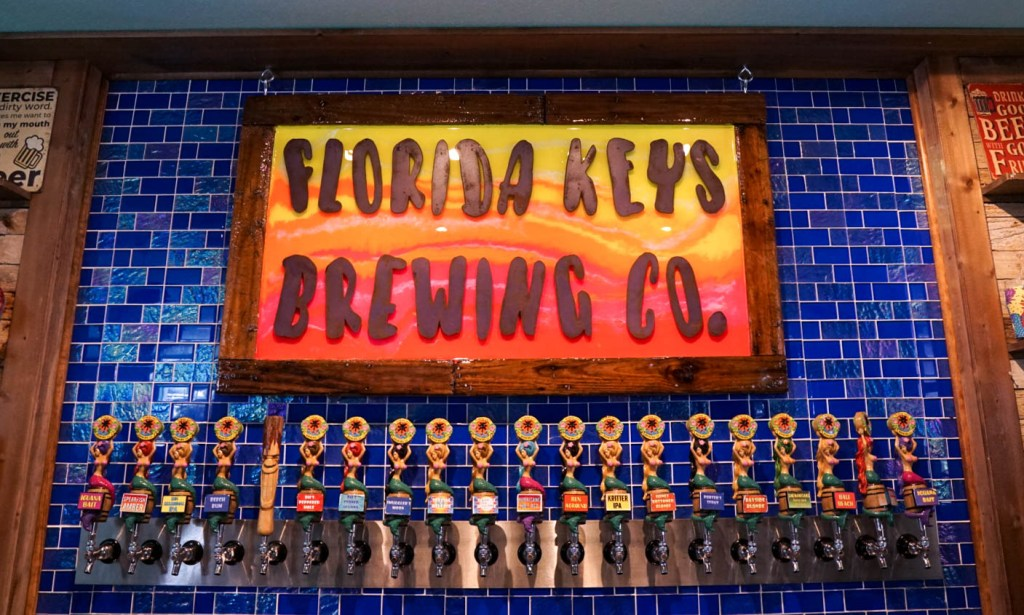 taps at Florida Keys Brewing Company, things to do in Islamorada #travelblog #floridakeys #brewery