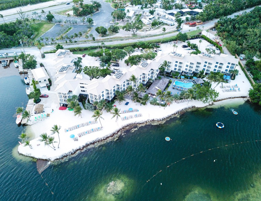 7 fun things to do in Islamorada, Florida, drone shot of Pelican Cove Resort and Marina