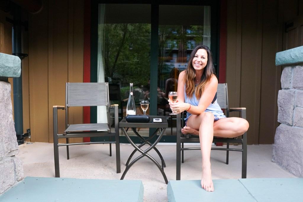 Copper Creek Villas patio #disneyblogger