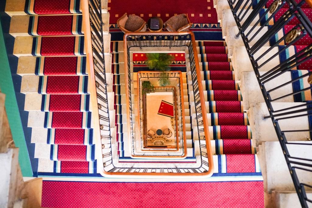 Art Deco Hotel Montana Staircase