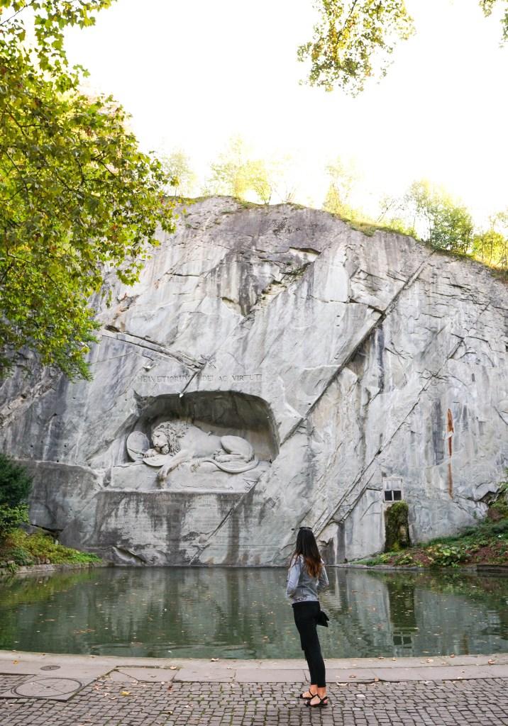 Lion of Lucerne, Lion Monument