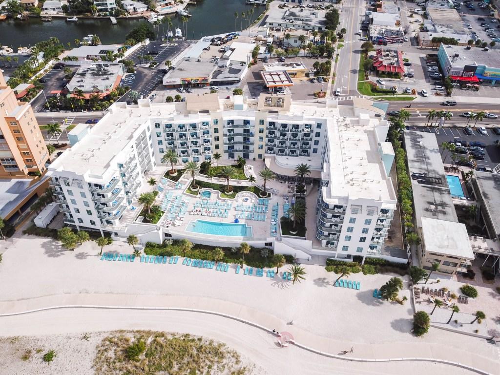 Treasure Island Beach Resort Aerial View from Maverick
