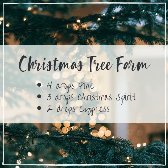 Christmas tree farm essential oil blend, diffuser blends for Christmas, #essentialoils #diffuserblends