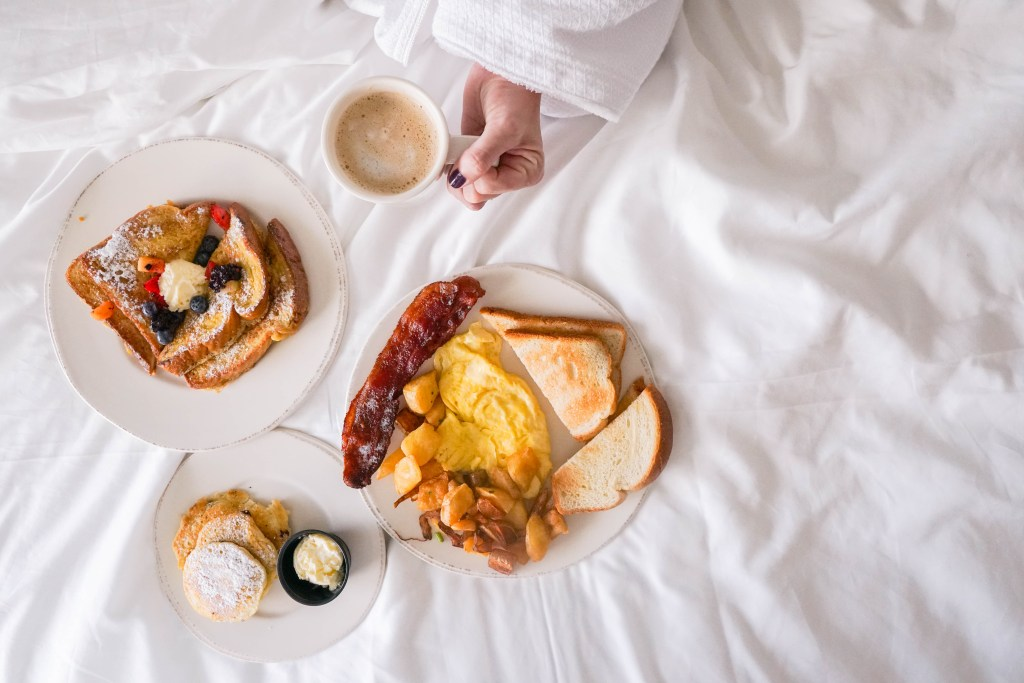 Treasure Island Beach Resort breakfast in bed