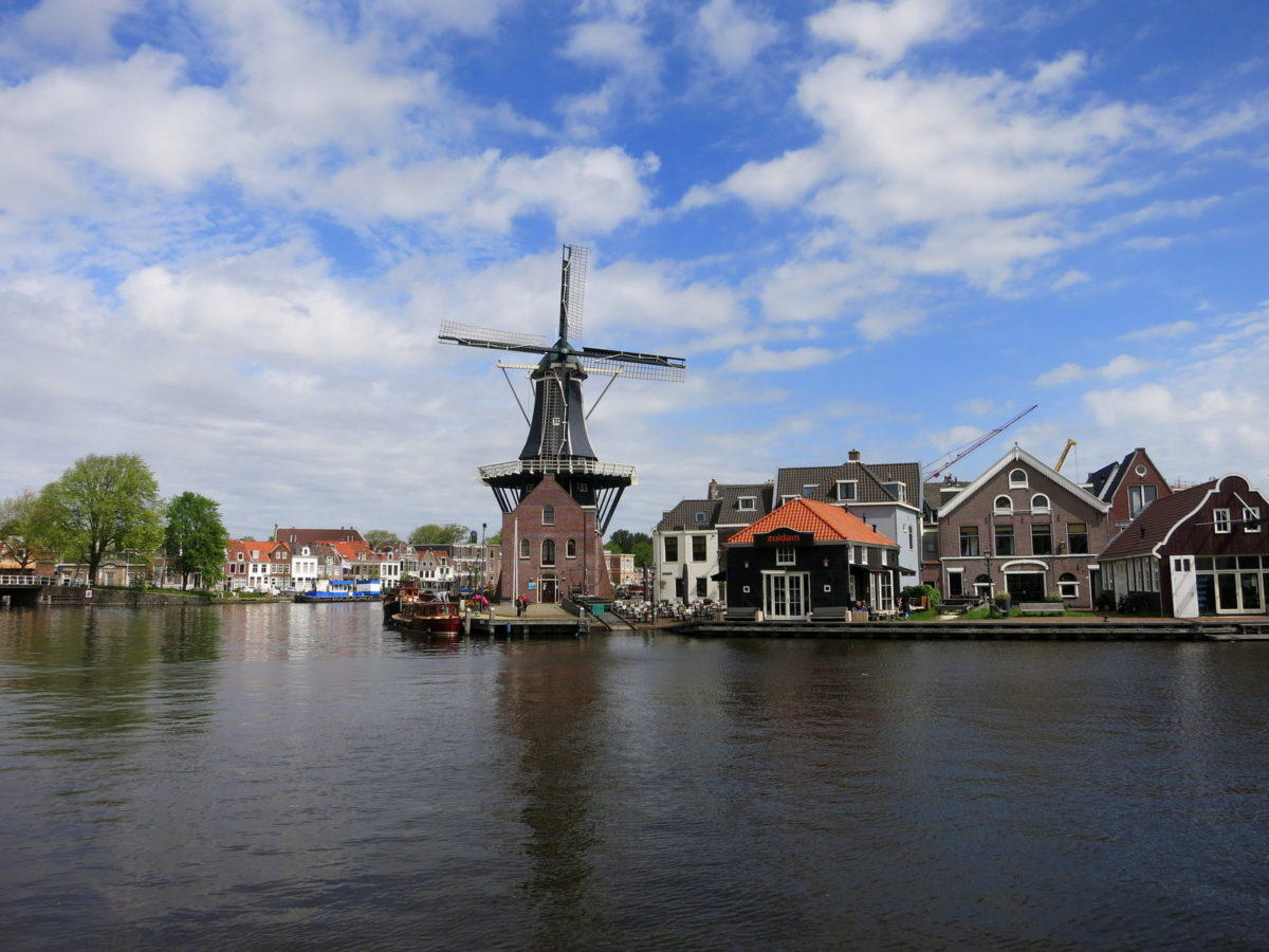 Best things to do in Haarlem :: The large Adriaan windmill sits on the bank of the river Spaarne. You can see the mill from the opposite side of the river or visit it and have a guided tour of the structure. If you have never visited a windmill before it is definitely worth a trip.