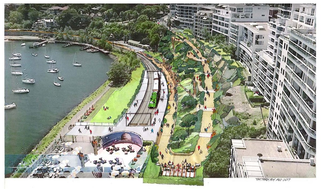 18 Urban Projects Like New York's High Line - reclaim rail & roads to parks - Sydney harbour high line