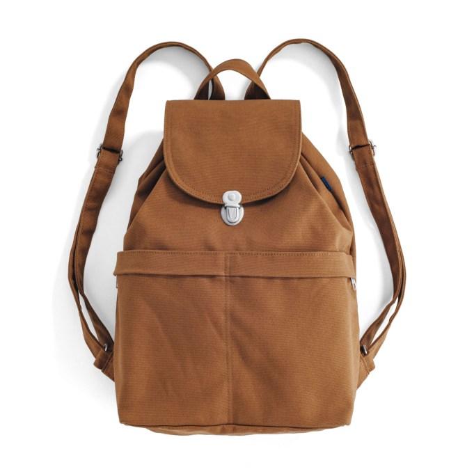 The Baggu rust brown backpack.