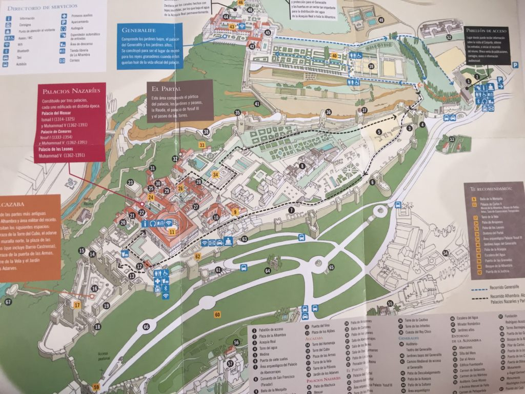 Alhambra map: Tips for Visiting the Alhambra in Granada -how to get tickets & plan your visit