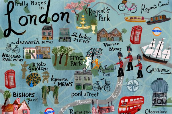 Pretty Places in London Map - Shoshannah Hausmann
