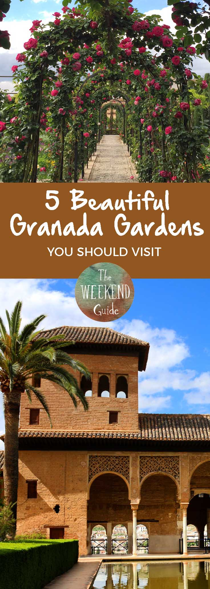 Granada is famous for the Alhambra, but there are other beautiful places you should visit. Here are five of our favorite parks and gardens in Granada. - theweekendguide.com