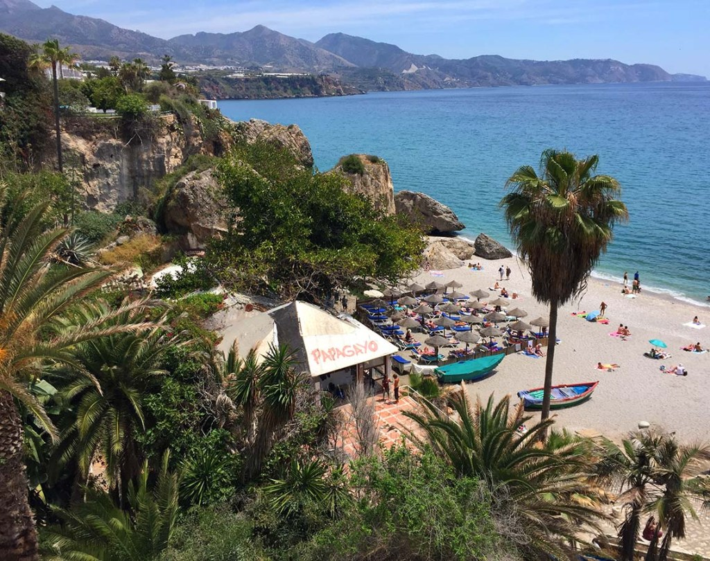 Places to visit near Granada Spain - Nerja is a lovely beach town reachable by bus