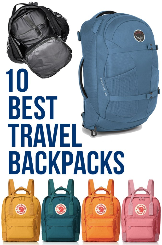 10 Best Travel Backpacks: Best Carry On Travel Backpacks & Daypacks for Travel