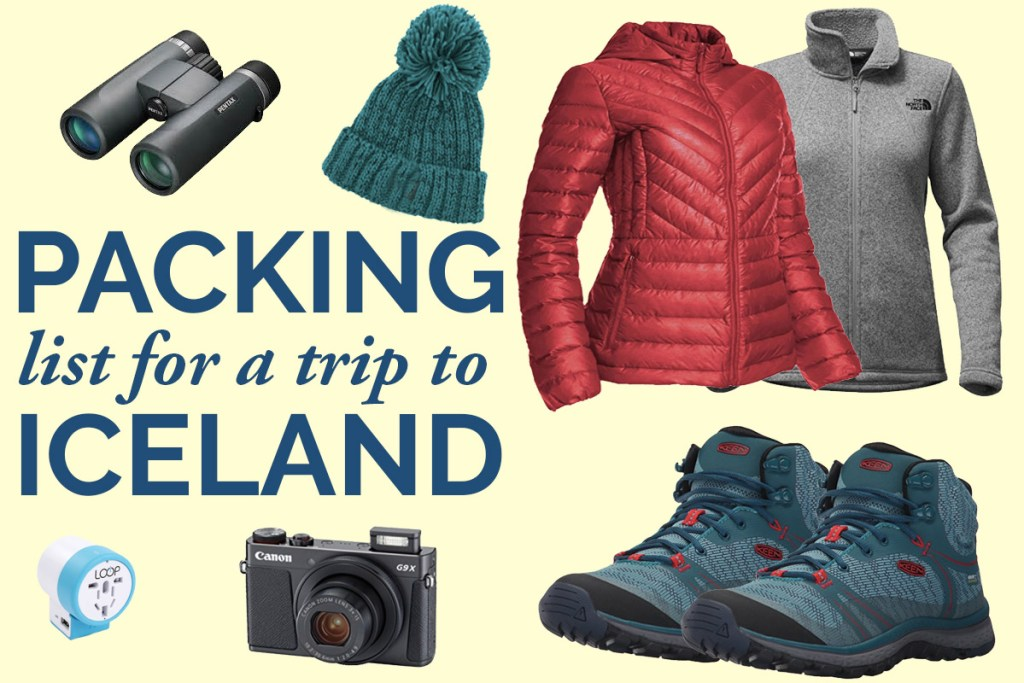 Packing for Iceland - what to bring to Iceland - what to wear in Iceland