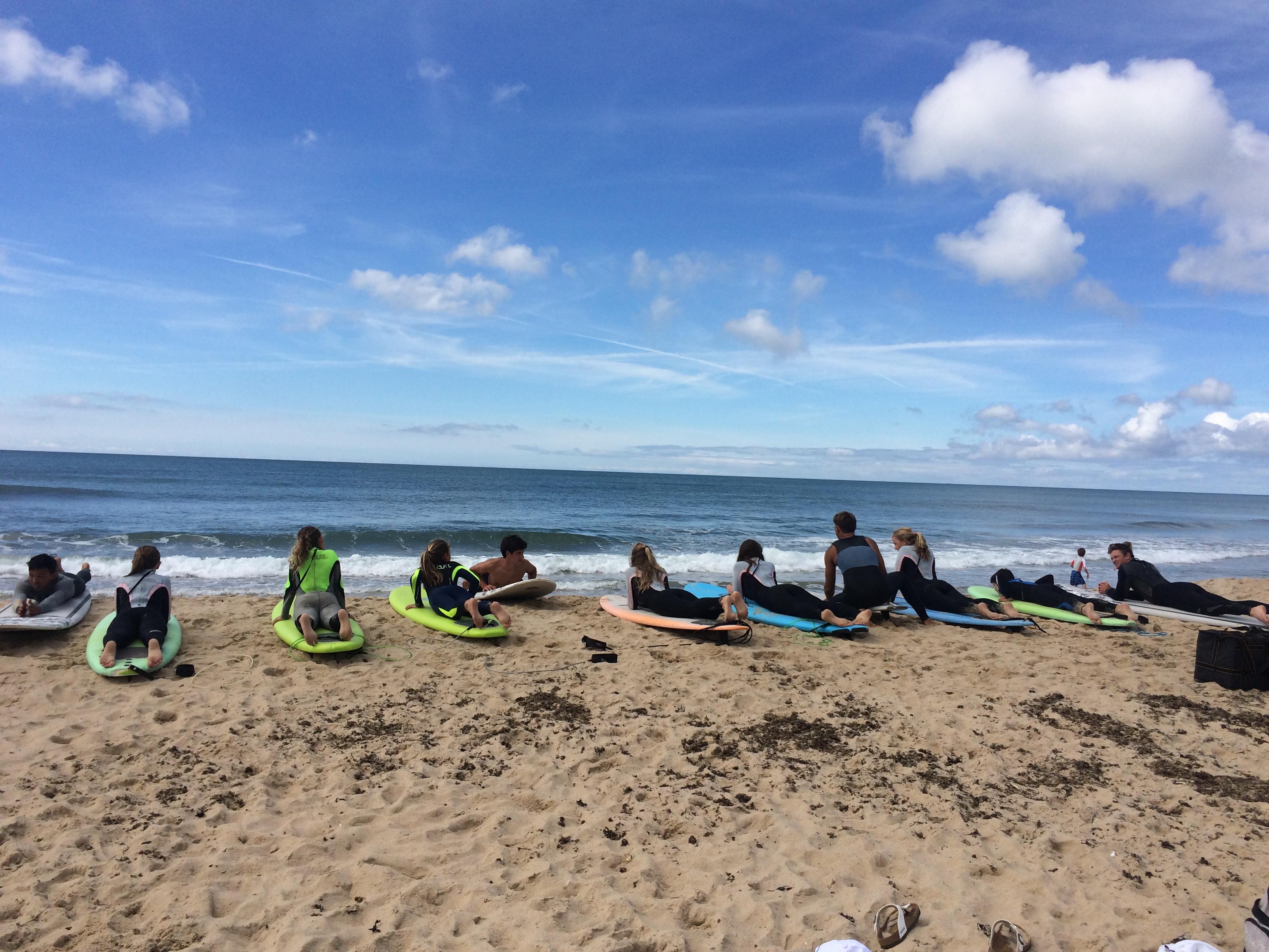 girls surf camp at Montauk Boardriders