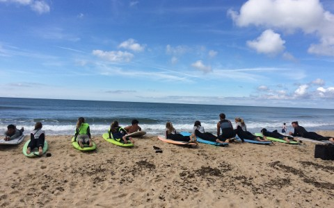 girls surf camp at Montauk Boardriders: surfing lessons in new york