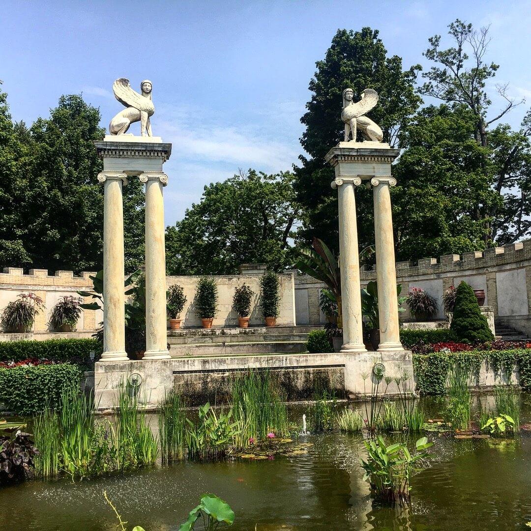Day Trip to the Untermyer Gardens Conservatory pond