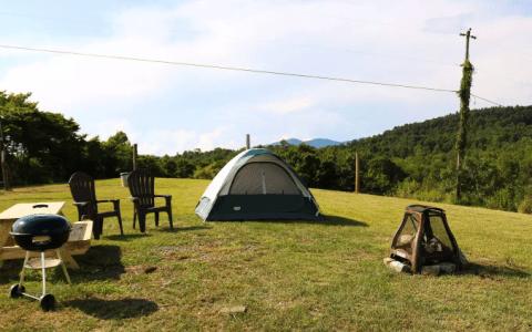 hip camp on a christmas tree farm