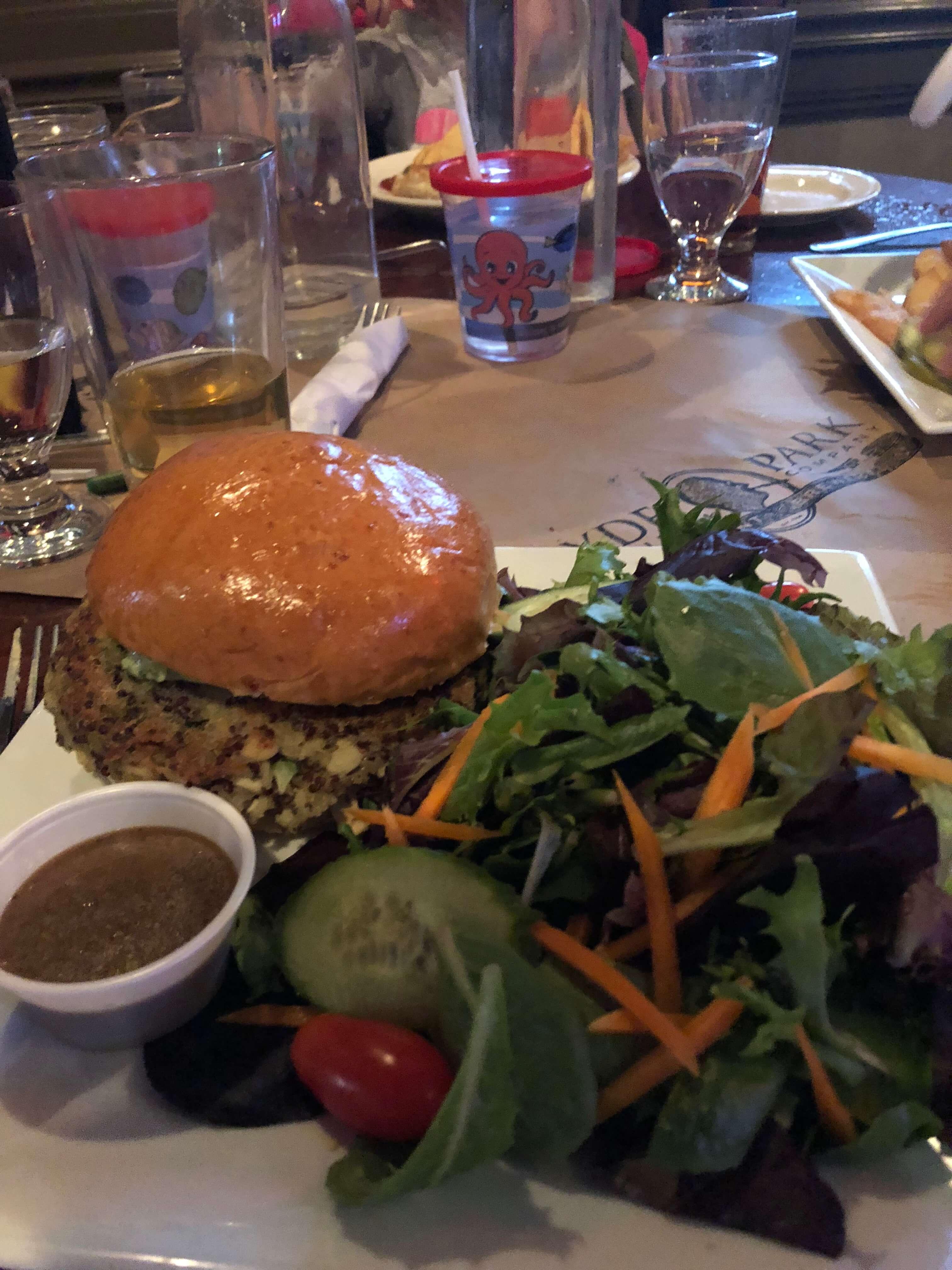 hyde park brewery dinner veggie burger dutchess county
