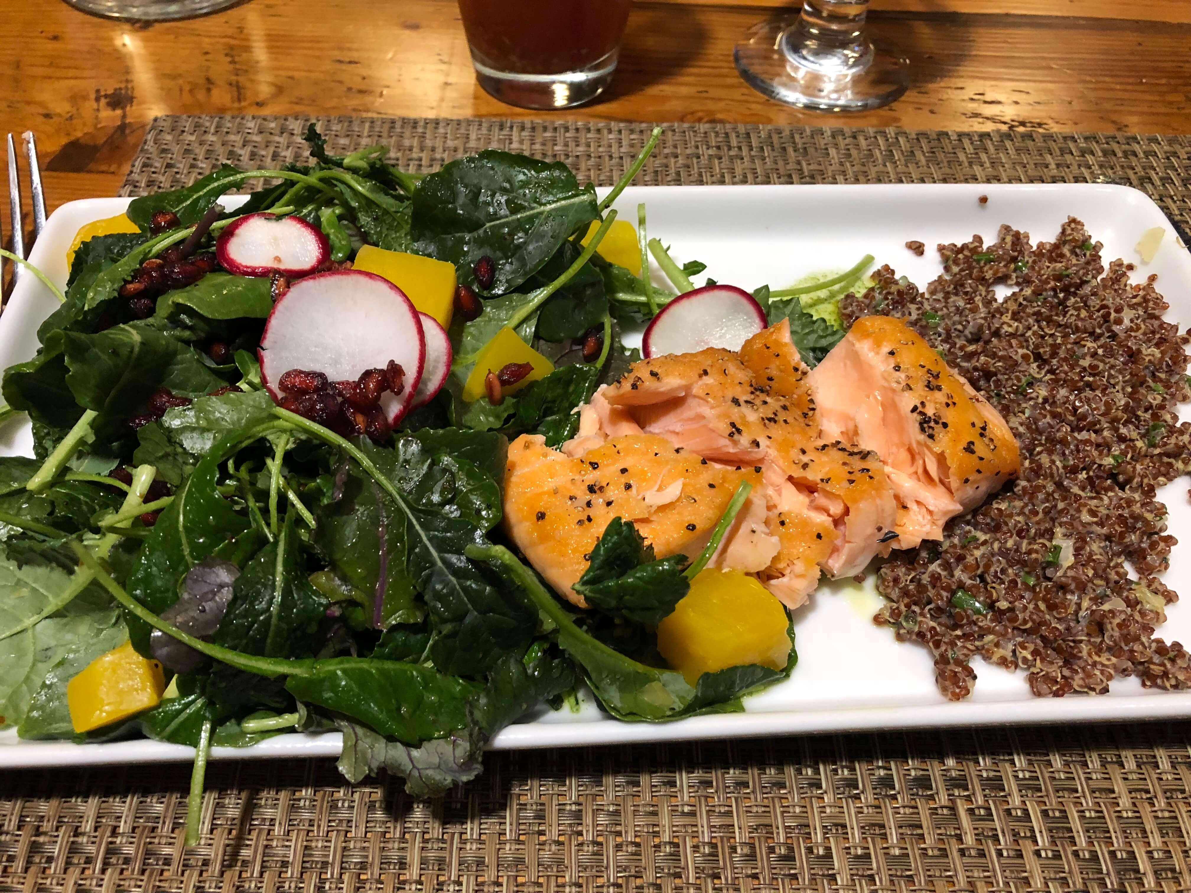 Killington Resort learn to ski program delicious salmon